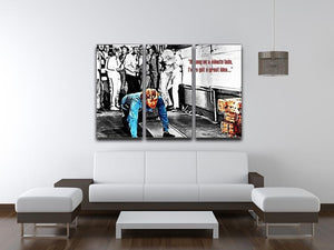 The Italian Job Hang on Lads 3 Split Panel Canvas Print - Canvas Art Rocks - 4