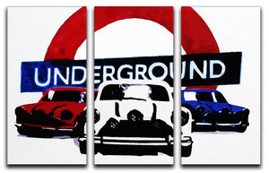 The Italian Job Mini Coopers 3 Split Panel Canvas Print - Canvas Art Rocks - 4