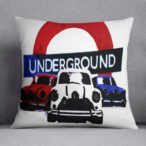 The Italian Job Mini Coopers Cushion