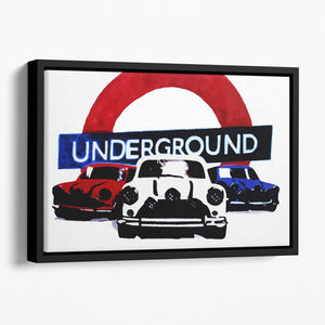 The Italian Job Mini Coopers Floating Framed Canvas