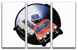 The Italian Job Minis in Tunnel 3 Split Panel Canvas Print - Canvas Art Rocks - 4