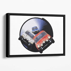 The Italian Job Minis in Tunnel Floating Framed Canvas