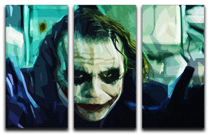 The Joker 3 Split Panel Canvas Print - Canvas Art Rocks - 4
