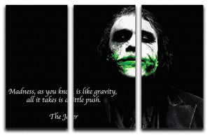 The Joker Madness 3 Split Panel Canvas Print - Canvas Art Rocks - 1