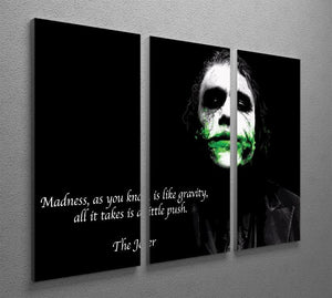 The Joker Madness 3 Split Panel Canvas Print - Canvas Art Rocks - 2