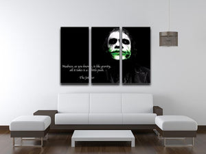 The Joker Madness 3 Split Panel Canvas Print - Canvas Art Rocks - 3