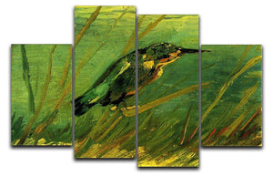 The Kingfisher by Van Gogh 4 Split Panel Canvas  - Canvas Art Rocks - 1