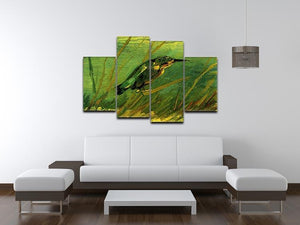 The Kingfisher by Van Gogh 4 Split Panel Canvas - Canvas Art Rocks - 3
