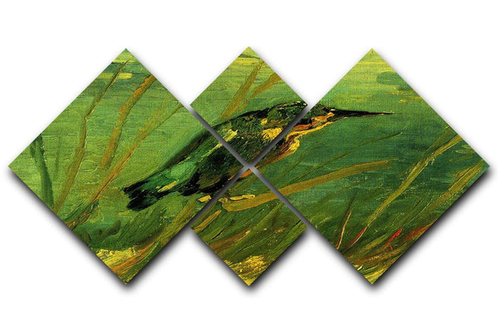 The Kingfisher by Van Gogh 4 Square Multi Panel Canvas