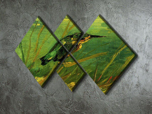 The Kingfisher by Van Gogh 4 Square Multi Panel Canvas - Canvas Art Rocks - 2
