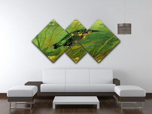 The Kingfisher by Van Gogh 4 Square Multi Panel Canvas - Canvas Art Rocks - 3
