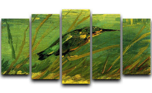 The Kingfisher by Van Gogh 5 Split Panel Canvas  - Canvas Art Rocks - 1
