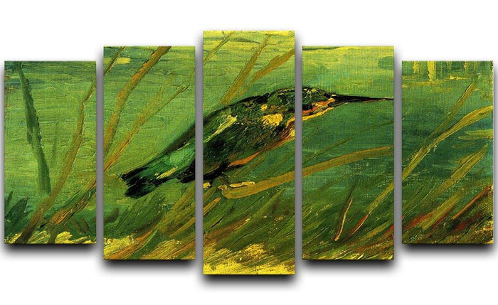 The Kingfisher by Van Gogh 5 Split Panel Canvas