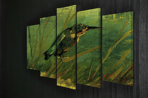 The Kingfisher by Van Gogh 5 Split Panel Canvas - Canvas Art Rocks - 2