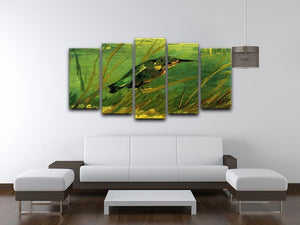 The Kingfisher by Van Gogh 5 Split Panel Canvas - Canvas Art Rocks - 3
