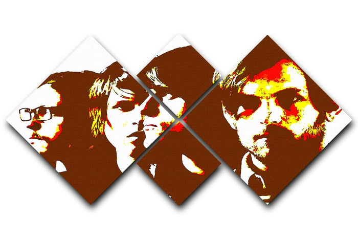 The Kings of Leon 4 Square Multi Panel Canvas