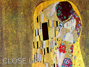The Kiss 2 by Klimt 3 Split Panel Canvas Print - Canvas Art Rocks - 3