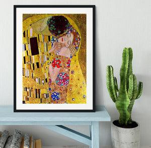 The Kiss by Klimt Framed Print - Canvas Art Rocks - 1