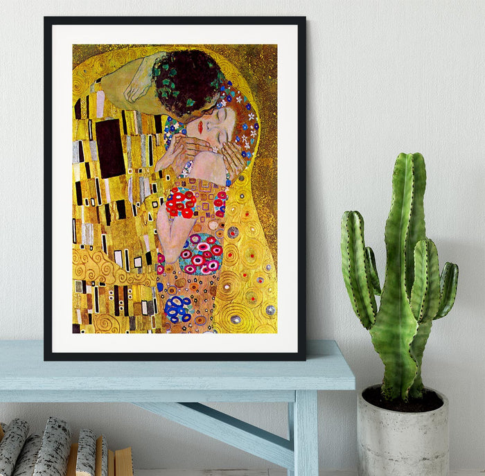 The Kiss by Klimt Framed Print
