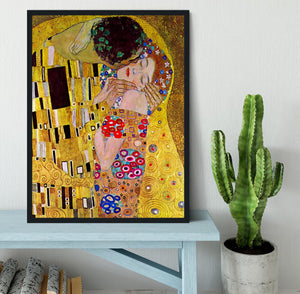 The Kiss by Klimt Framed Print - Canvas Art Rocks - 2