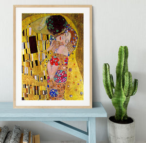 The Kiss by Klimt Framed Print - Canvas Art Rocks - 3