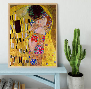 The Kiss by Klimt Framed Print - Canvas Art Rocks - 4