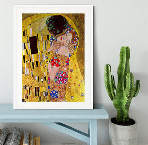 The Kiss by Klimt Framed Print - Canvas Art Rocks - 5