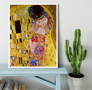 The Kiss by Klimt Framed Print - Canvas Art Rocks -6