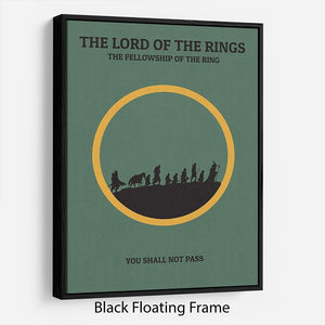 The Lord Of The Rings Fellowship If The Ring Minimal Movie Floating Frame Canvas - Canvas Art Rocks - 1