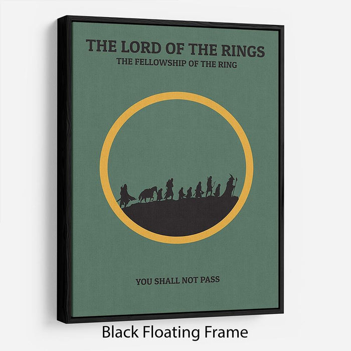 The Lord Of The Rings Fellowship If The Ring Minimal Movie Floating Frame Canvas