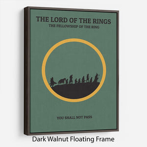 The Lord Of The Rings Fellowship If The Ring Minimal Movie Floating Frame Canvas - Canvas Art Rocks - 5