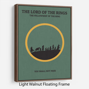 The Lord Of The Rings Fellowship If The Ring Minimal Movie Floating Frame Canvas - Canvas Art Rocks - 7