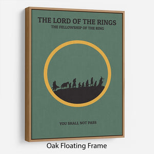 The Lord Of The Rings Fellowship If The Ring Minimal Movie Floating Frame Canvas - Canvas Art Rocks - 9