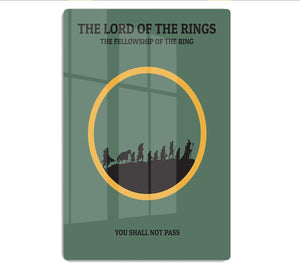The Lord Of The Rings Fellowship If The Ring Minimal Movie HD Metal Print