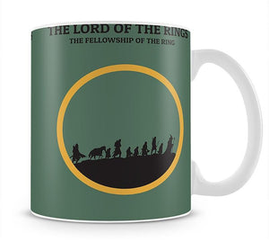 The Lord Of The Rings Fellowship If The Ring Minimal Movie Mug - Canvas Art Rocks - 1
