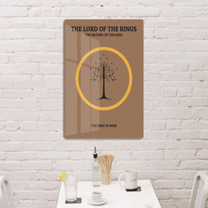 The Lord Of The Rings The Return Of The King Minimal Movie HD Metal Print