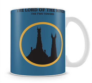 The Lord Of The Rings The Two Towers Minimal Movie Mug - Canvas Art Rocks - 1