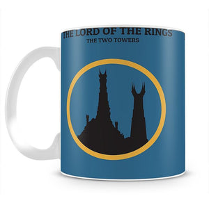 The Lord Of The Rings The Two Towers Minimal Movie Mug - Canvas Art Rocks - 2