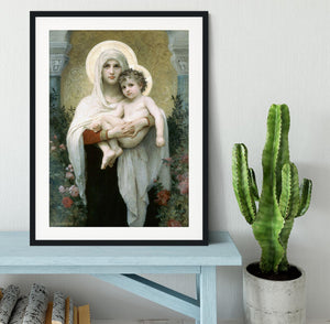 The Madonna of the Roses By Bouguereau Framed Print - Canvas Art Rocks - 1