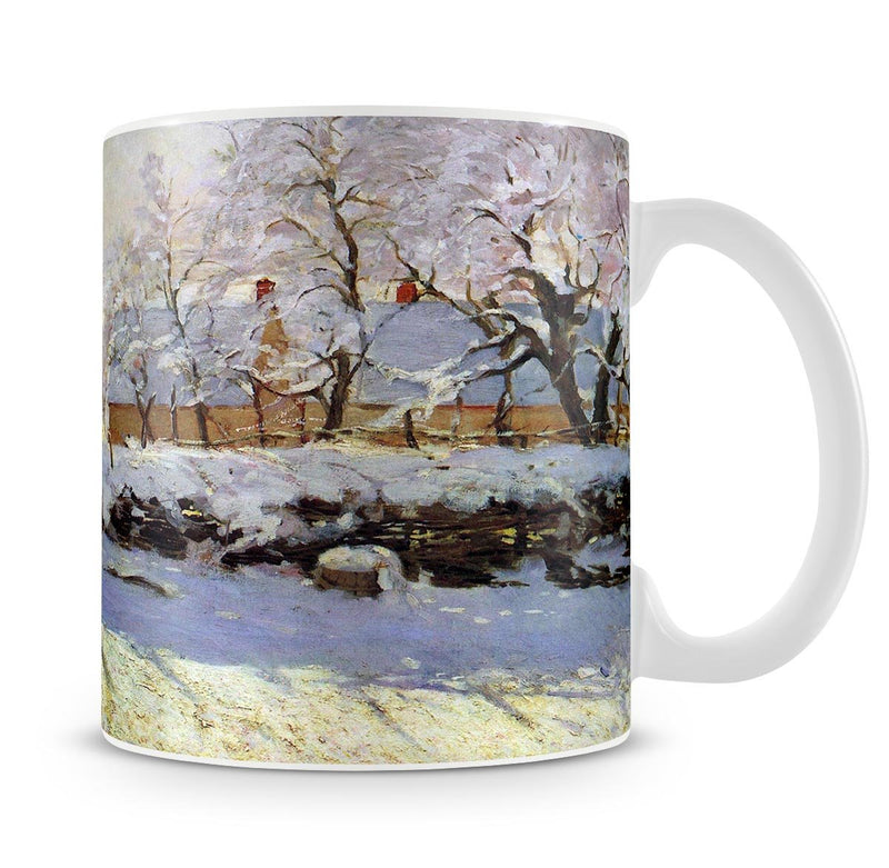 The Magpie by Monet Mug - Canvas Art Rocks - 4