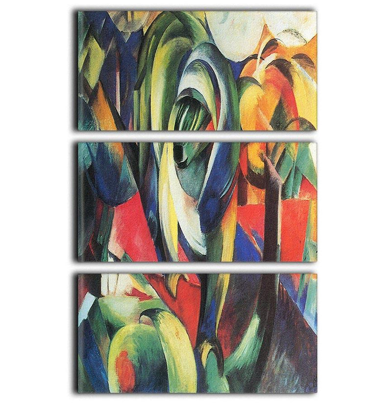 The Mandrill by Franz Marc 3 Split Panel Canvas Print - Canvas Art Rocks - 1