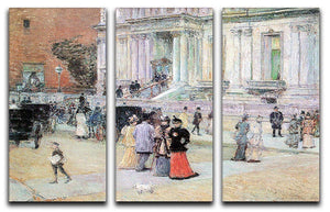 The Manhattan Club The Villa of the Stewarts by Hassam 3 Split Panel Canvas Print - Canvas Art Rocks - 1