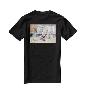 The Manhattan Club The Villa of the Stewarts by Hassam T-Shirt - Canvas Art Rocks - 1