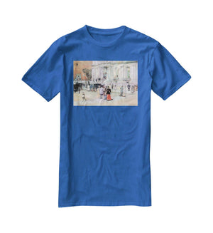 The Manhattan Club The Villa of the Stewarts by Hassam T-Shirt - Canvas Art Rocks - 2
