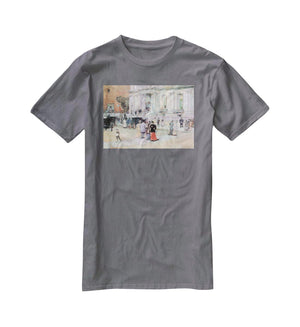 The Manhattan Club The Villa of the Stewarts by Hassam T-Shirt - Canvas Art Rocks - 3