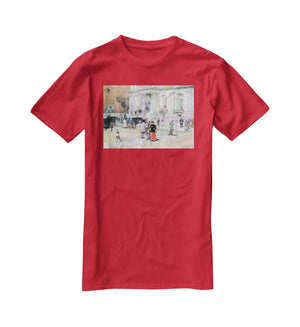 The Manhattan Club The Villa of the Stewarts by Hassam T-Shirt - Canvas Art Rocks - 4