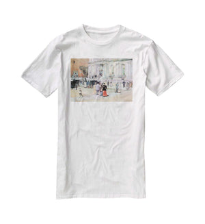 The Manhattan Club The Villa of the Stewarts by Hassam T-Shirt - Canvas Art Rocks - 5