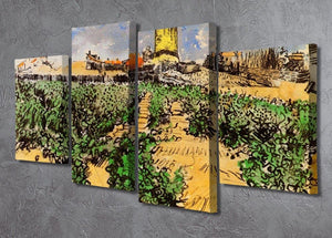 The Mill of Alphonse Daudet at Fontevielle by Van Gogh 4 Split Panel Canvas - Canvas Art Rocks - 2