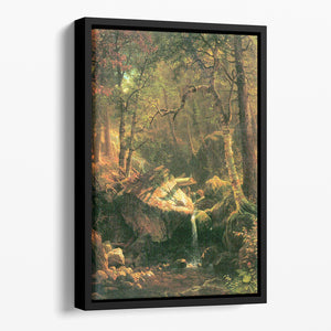 The Mountain by Bierstadt Floating Framed Canvas - Canvas Art Rocks - 1