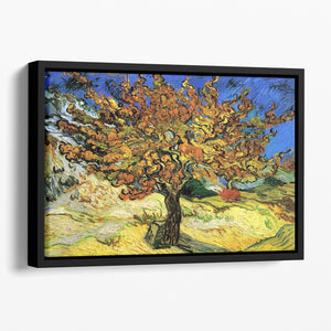 The Mulberry Tree by Van Gogh Floating Framed Canvas